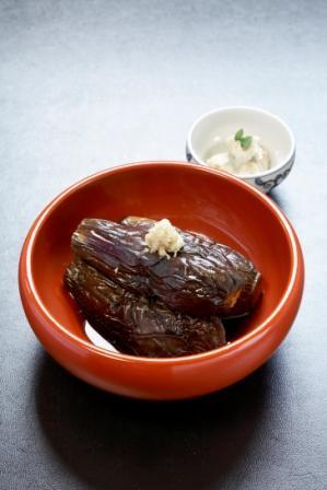 06焼きナスの煮付けとウテナの胡麻味噌和え.jpg